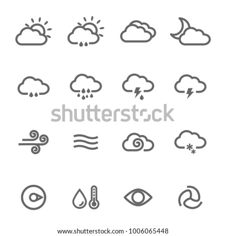 cloud weather icons set stock vector