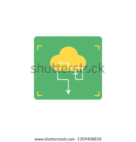 Cloud with arrows icon. Element of Network icon for mobile concept and web apps. Detailed Cloud with arrows icon can be used for web and mobile