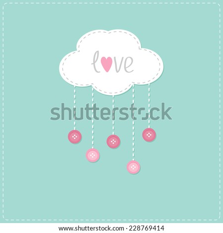 cloud with hanging rain button