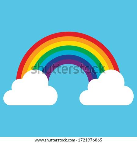 cloud with rainbow icon