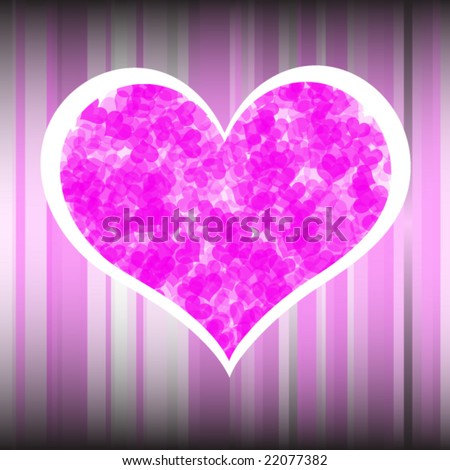 stock vector : Clouded heart on a stylish background in vector