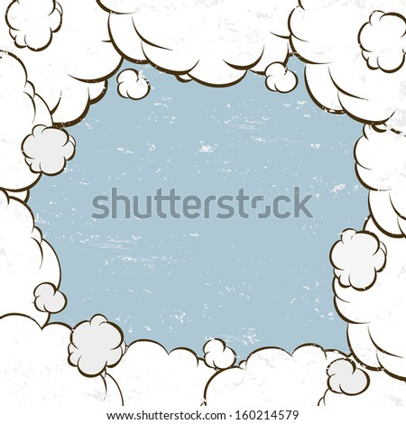 Clouds backgrounds, vector illustration