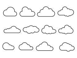 Clouds icon. cloud and meteorology concept. isolated on white background
