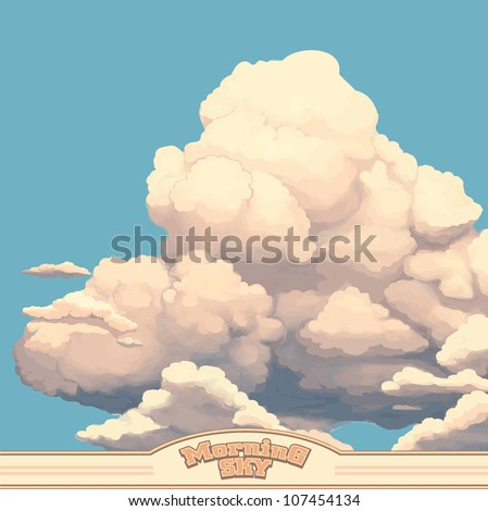 clouds in a morning sky