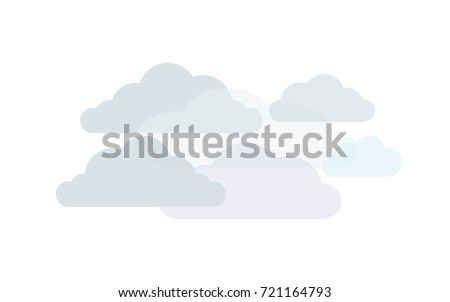 clouds in shades of grey  vector
