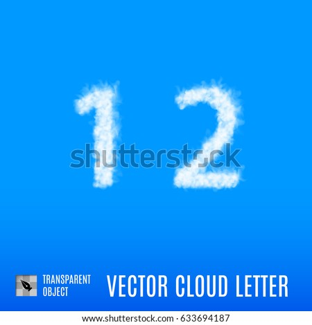 clouds in shape of the number