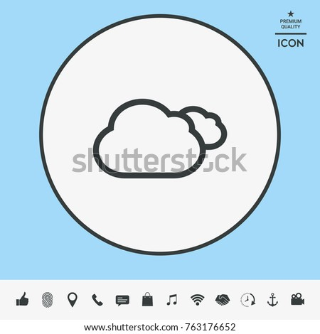 Clouds line icon