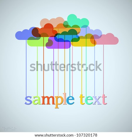 clouds of rainbow vector