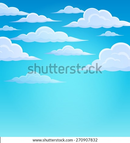 Clouds on sky theme 1 - eps10 vector illustration.