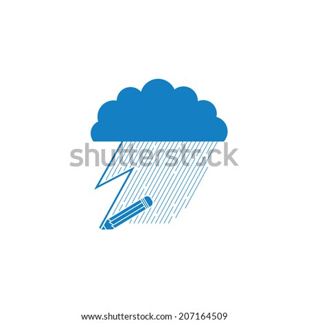 Raindrop Pencil Drawing Clouds Raindrops And