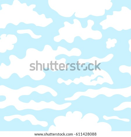 clouds seamless pattern stock