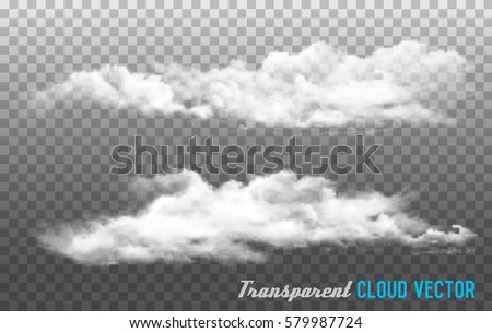 clouds vector on transparent