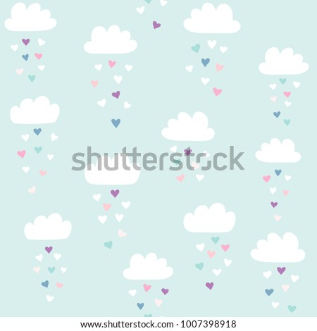 clouds vector pattern with