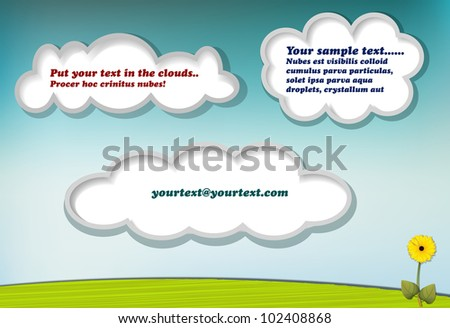 Clouds with copy space for your text or message, eps10 vector