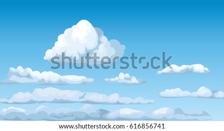cloudscape blue sunny sky...