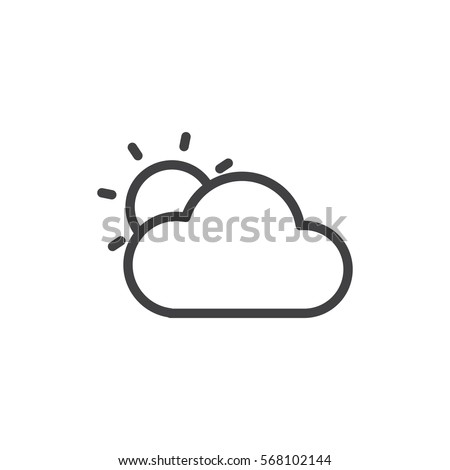 cloudy icon. sign design