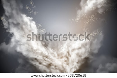 cloudy sky element  gray