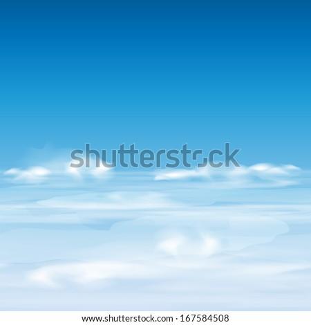 cloudy sky  horizontal seamless