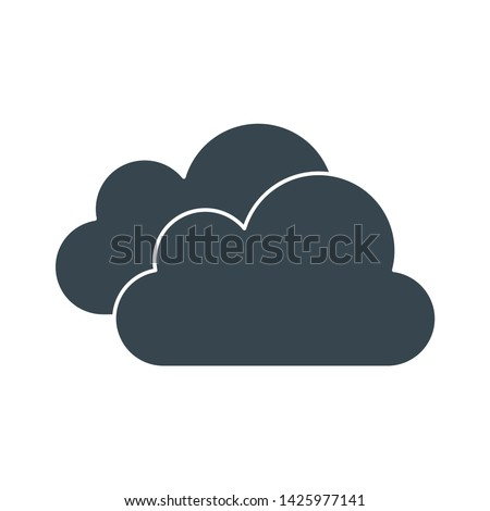 cloudy weather icon. flat illustration of cloudy weather vector icon for web