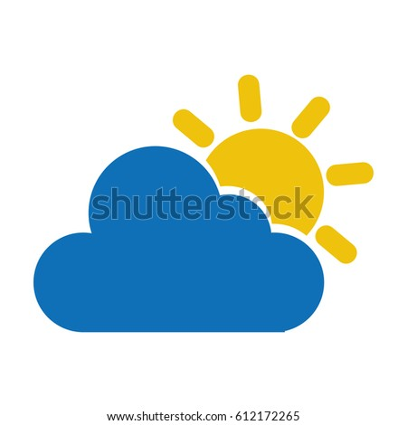 cloudy weather isolated icon vector illustration design