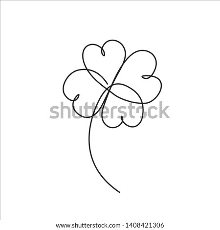 clover four leaf line art st