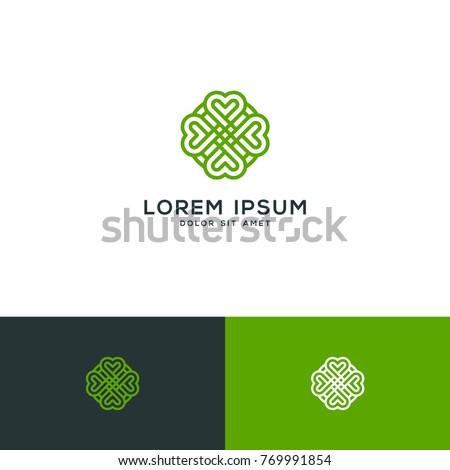 clover leaf vector  clover logo