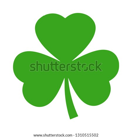 clover leaves icon with three