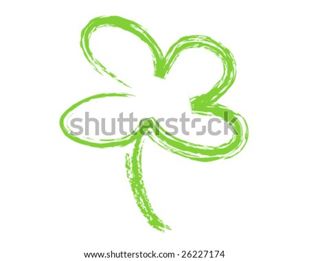 Clover painted - stock vector