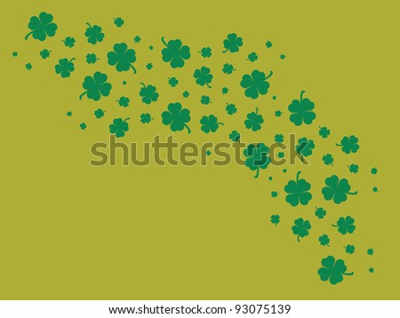 Clover Pattern across Mustard Yellow Background. Ready for St. Patrick's Day!