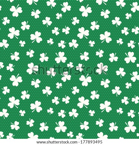 Clover seamless pattern for St. Patrick's Day.