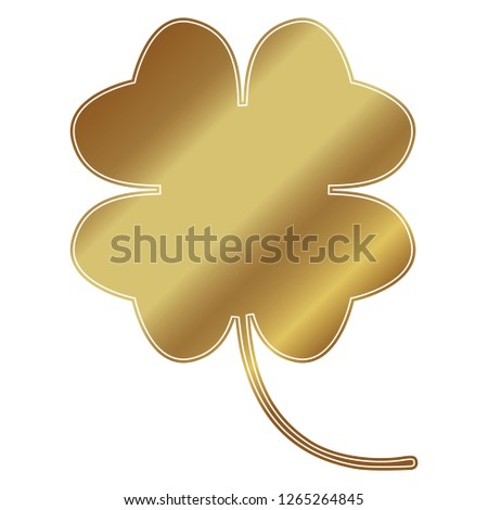 cloverleaf gold on white