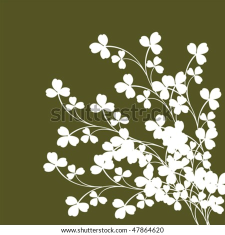 Clovers backgrounds illustration, silhouettes
