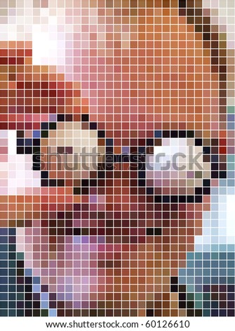 Clown. Abstract vector dots background