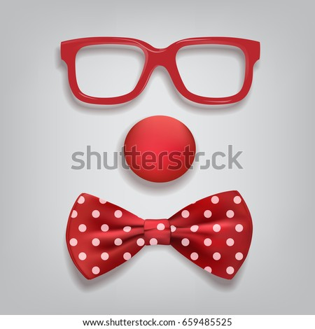 clown accessories isolated on