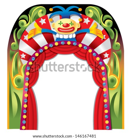 clown and circus border