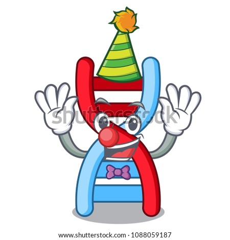 clown dna molecule mascot