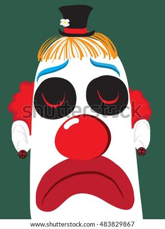 clown face  sad clown vector