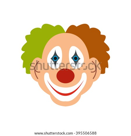clown icon flat