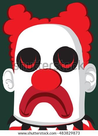 clown illustration  cartoon