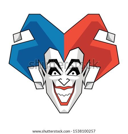 clown joker geometric vector