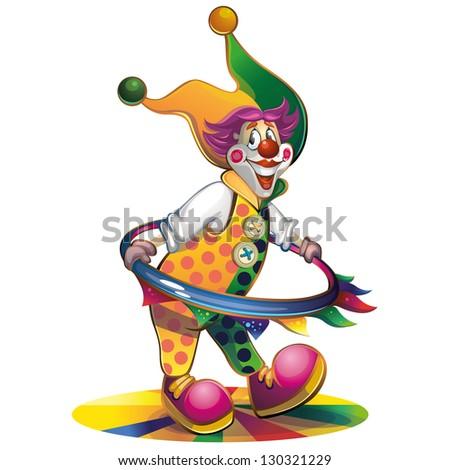 clown spinning hoop
