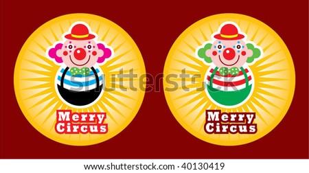 clown sticker greeting