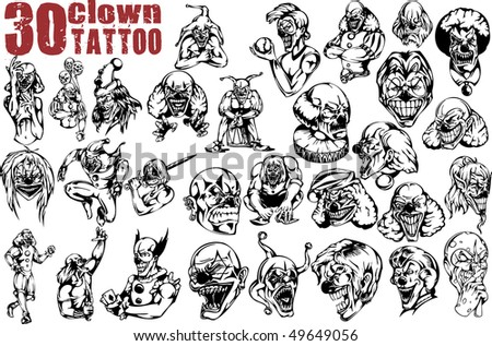 Clown Tattoo Design