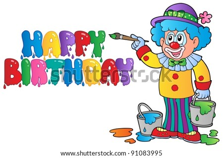 Clown theme picture 8 - vector illustration.