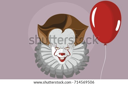 clown with a balloon