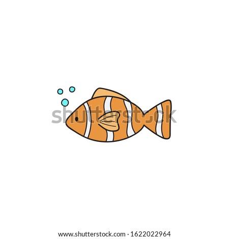 clownfish cute vector