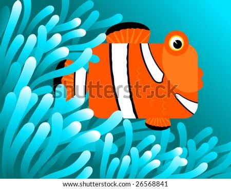 clownfish hiding in sea anemones