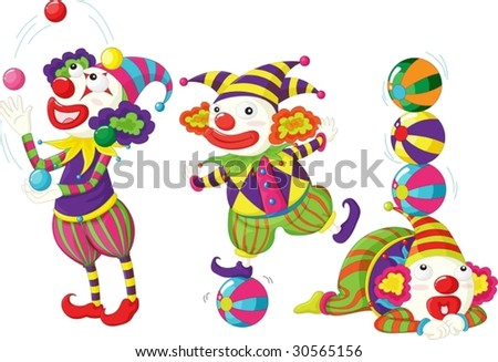 clowns entertaining