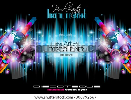 club disco flyer set with