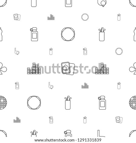 club icons pattern seamless white background. Included editable line hoop, Spades, golf, bottle for fitness, equalizer, golf putter, Clubs icons. club icons for web and mobile.